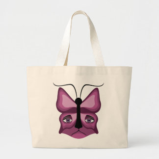 Pink Meow Mask Large Tote Bag