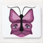 Pink Meow Mask Mouse Pad