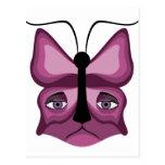 Pink Meow Mask Postcards