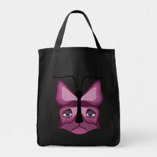 Pink Meow Mask Tote Bag