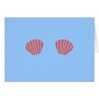 Pink Mermaid Bikini Card