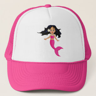 bf781dcf Pink Mermaid girl art Trucker Hat