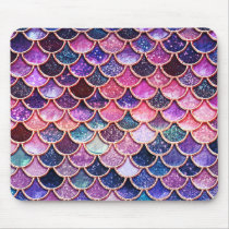 Pink Mermaid Glitter Scales- Mermaid Scales Mouse Pad