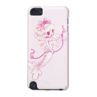 Pink Mermaid Holding String Of Pearls iPod Touch (5th Generation) Cases