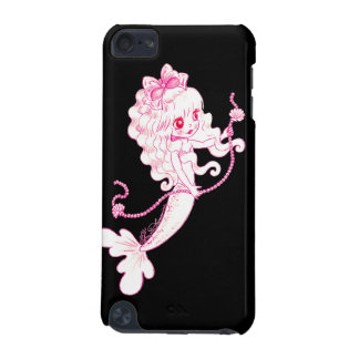 Pink Mermaid Holding String Of Pearls On Black iPod Touch 5G Covers