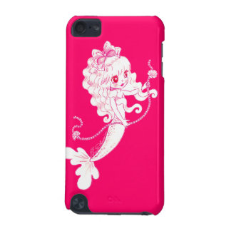 Pink Mermaid Holding String Of Pearls On Pink iPod Touch (5th Generation) Cases