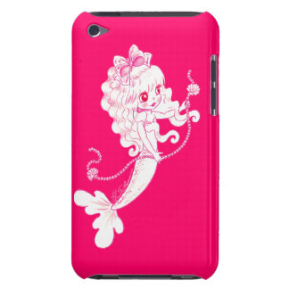 Pink Mermaid Holding String Of Pearls On Pink iPod Touch Covers