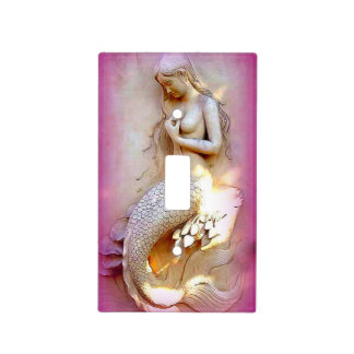 pink mermaid light switch cover