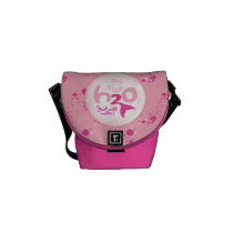 Pink Mermaid Pattern Courier Bag