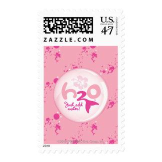Pink Mermaid Pattern Postage