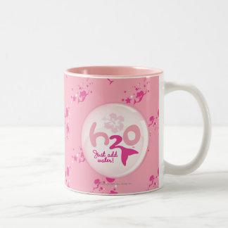 Pink Mermaid Pattern Two-Tone Coffee Mug