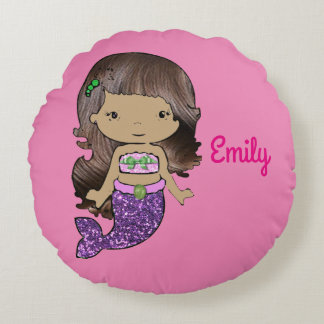 Pink Mermaid Personalized Pillow