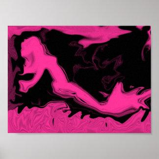 Pink Mermaid Poster