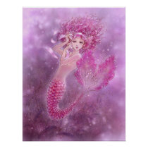 Pink Mermaid Print