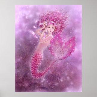 Pink Mermaid Print
