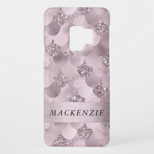Pink Mermaid Scales | Dusty Mauve Rose Shimmer Phone Case