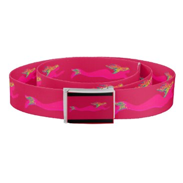 Beach Themed pink mermaids red belt