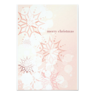 Pink Merry Chistmas Invitation
