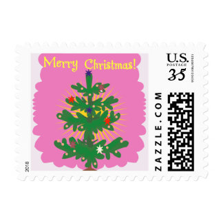Pink Merry Christmas Stamps
