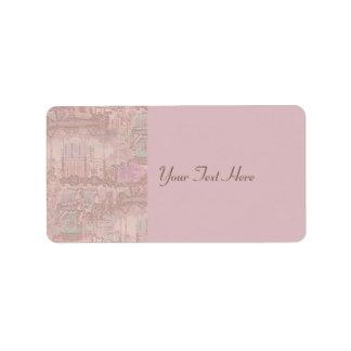 Pink Merry-Go-Round Horses Label