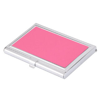 Pink Metal Business Card Case