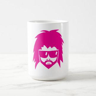 Pink metal head, rock mug