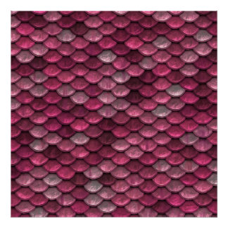 Pink Metallic Scales Texture Poster