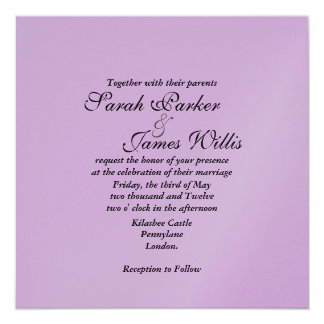 pink metallic Wedding Invite