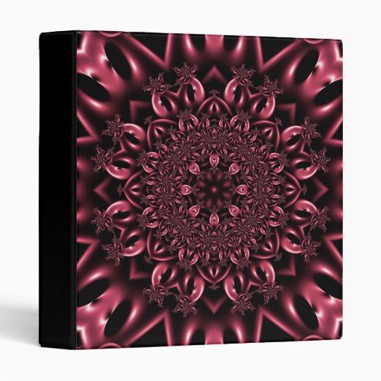 Pink metalwork 3 ring binder