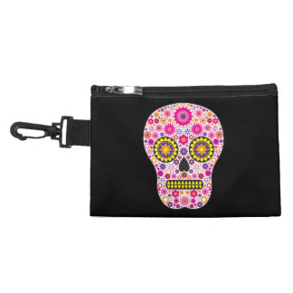 Pink Mexican Sugar Skull Accessory Bag