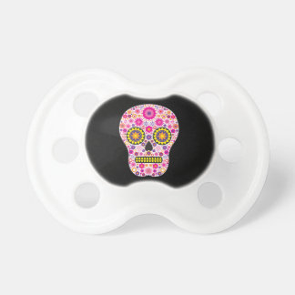 Pink Mexican Sugar Skull BooginHead Pacifier