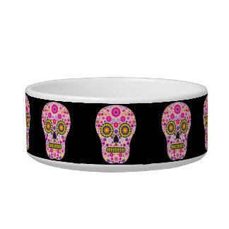Pink Mexican Sugar Skull Bowl