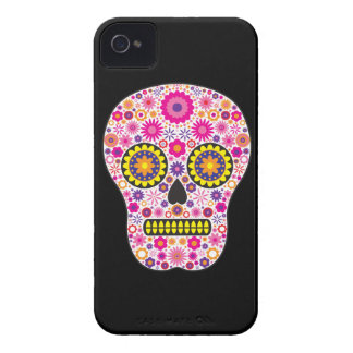 Pink Mexican Sugar Skull iPhone 4 Cover