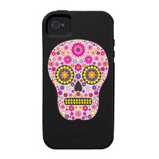 Pink Mexican Sugar Skull iPhone 4 Cases