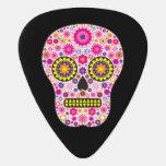 Pink Mexican Sugar Skull Guitar Pick