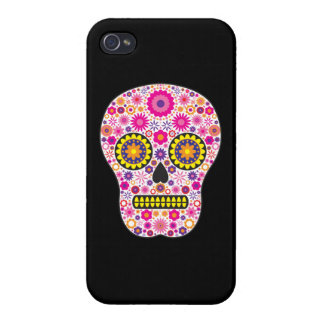 Pink Mexican Sugar Skull iPhone 4/4S Case