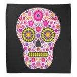 Pink Mexican Sugar Skull Kerchiefs