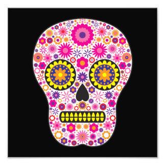 Pink Mexican Sugar Skull Photo Print