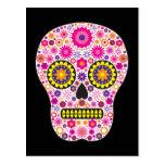 Pink Mexican Sugar Skull Postcard