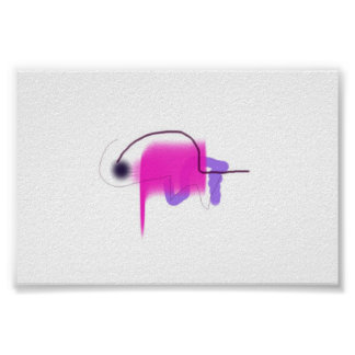 Pink Microbe Poster