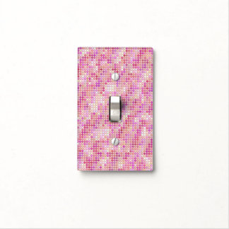 Pink Microdots Light Switch Cover