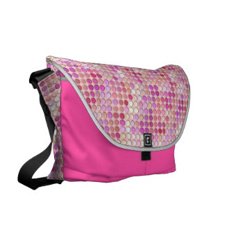 Pink Microdots Messenger Bags