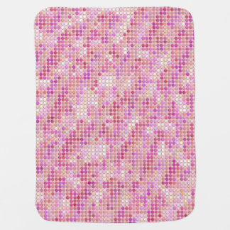 Pink Microdots Receiving Blanket
