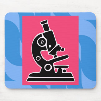Pink Microscope Mouse Pad
