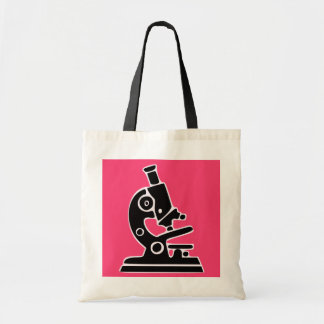 Pink Microscope Tote Bag