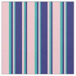 [ Thumbnail: Pink, Midnight Blue & Light Sea Green Colored Fabric ]