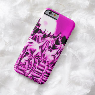 Pink Midnight Unicorn Airbrush Art Barely There iPhone 6 Case