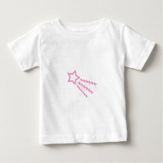 Pink Minimalist Shooting Star Graphic Infant T-shirt