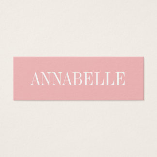 Pink minimalist trendy modern business card