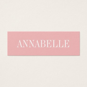 TheBusinesscardShop Pink minimalist trendy modern business card